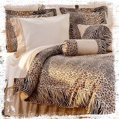 Urban style safari with a rich jungle passion. #AnnasLinens #AnimalPrint
