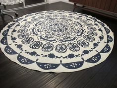 Turning A Table Cloth In To A Rug: A DIY Anthropologie Rug