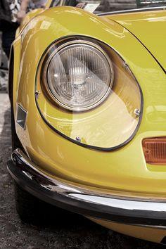 cool yellow car