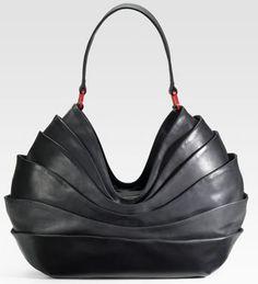 Christian Louboutin Layered Leather Hobo