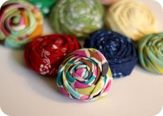 No fray, no sew rolled rosette tutorial