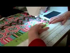 6.  Jelly Roll Race Quilt.  Quilting the Quilt