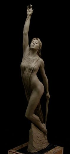 Awakening dawn. Life size clay for bronze. By Benjamin Victor clay