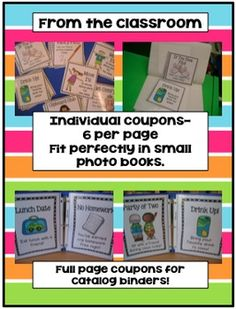 Classroom Coupons-My kids love these!