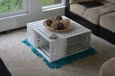 Picture of Apple Crate Coffee Table crate table, crate coffe, coffee tables, idea, craft, appl crate, apple crates, diy, coffe tabl