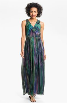 Donna Ricco Printed Surplice Maxi Dress available at Nordstrom