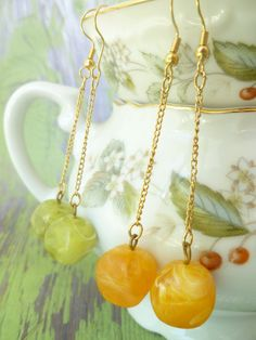 50's Vintage Large Plastic Bead Dangle Drop by LadyLuxeAccessories, $16.00