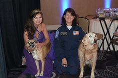 Thanks to the American Humane Association for showcasing the work of search and rescue dogs.  Here's a great photo of Denise Corliss and Bretagne with the 2014 Hero Dog of the Year Susie and her owner Donna.   Thanks to the American Humane Association for the opportunity to showcase the great work of Search and Rescue dogs everywhere.   #American Humane Association  #TEEX