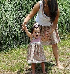 pasujące sukienki dla mami i córki/  Mummy and baby matching outfits