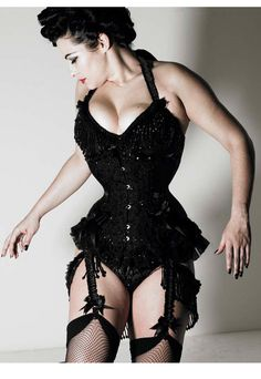 Immodesty Blaize. Lingerie by Buttress and Snatch, corset by Miss Katie.