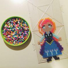 Anna Frozen perler beads by montuethree
