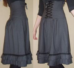 High waist corset skirt