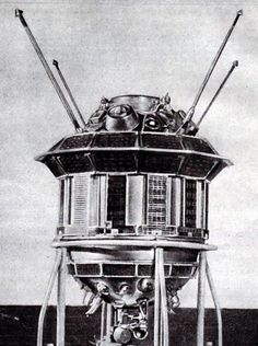 Luna 3 probe sent to the moon by the then Soviet Union. It held two cameras and its own film processing lab. Credit: NASA