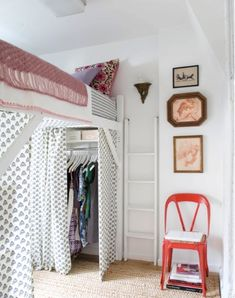 Small Space Solutions. A Closet under your bed.