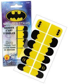 ThinkGeek :: Batgirl Nail Art