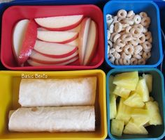 bento lunches...healthy, simple, organized sack lunches