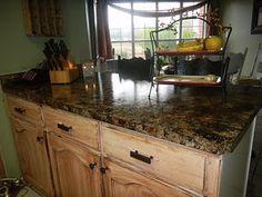 Faux Granite Countertops - Countertop redo...