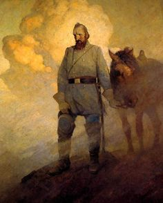 Painting of Stonewall Jackson by N.C. Wyeth