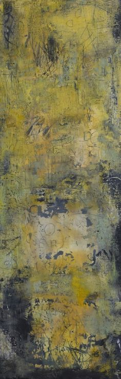 "Unformulated Experience , 2010,encaustic on panel, 60"" x 20""             CLAUDIA MARSEILLE"