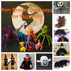 Knit a Scary Critter for Halloween
