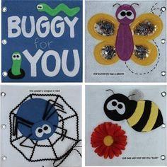 Quiet Book book idea, bees, subway art, quiet books, bug art, felt books, toddler, insect, sewing patterns