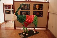 Oryx at Bait Al Zubair. Oryx painted by Stephanie Borg from Malta displayed at Bait Al Zubair Museum.