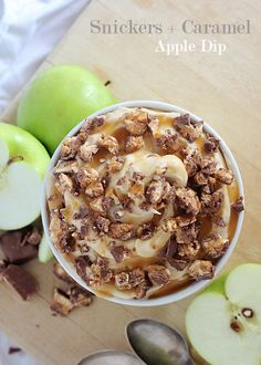Snickers and Caramel Apple Dip - Busy Mommy