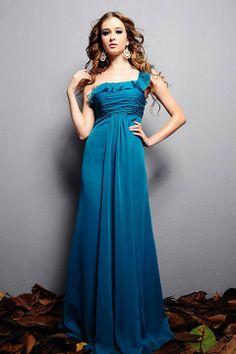 Amazing A-line empire waist chiffon dress for bridesmaid