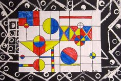 abstract art - mondrian and kandinsky
