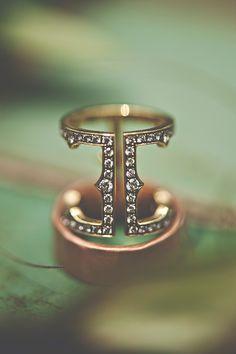 nontraditional wedding ring, photo by Christina Block Photography http://ruffledblog.com/epping-forest-yacht-club-wedding #weddingring #diamondring