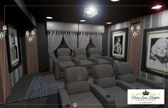 Contemporary media room.