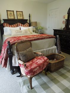 French Country Cottage guest room, chair, bedroom decor, country cottages, guest bedrooms, french country, french countri, cottage bedrooms, country bedrooms
