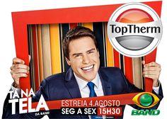 A TopTherm marca a sua presença na estreia do Tá na Tela, com Luiz Bacci - Confira as ofertas especiais que preparamos para você! Logo mais, 15:30h, na TV Bandeirantes! Para mais informações acesse www.toptherm.com.br ou ligue 08007707900