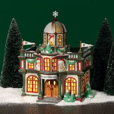 "Department 56: Products - ""North Pole Town Hall"" - View Lighted Buildings retired north pole"