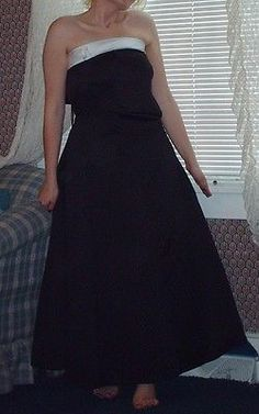Black White Tuxedo Style Junior Bridesmaid Pageant Prom Gown Sz 0 2 or 10JB http://www.ebay.com/itm/291130150969?ssPageName=STRK:MESELX:IT&_trksid=p3984.m1555.l2649