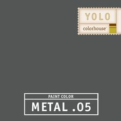 YOLO Colorhouse METAL .05 - A graphite gray.  Use this color on lower cabinets to anchor your kitchen or drum up some drama in a dining room by putting this color on the ceiling.
