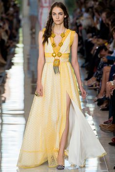Wedding dress? - Tory Burch dress on the catwalk at her Spring 2013 fashion week show.