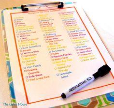 summer bucket lists, summer fun bucket list