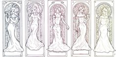 Art Nouveau Disney Princesses