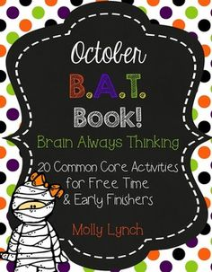 October BAT Book - 20 Common Core Activities for Early Fin