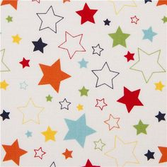 white Riley Blake star fabric from the USA