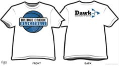 A Rigo Design T-Shirt Design for Bridge Creek basketball team.