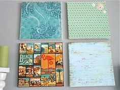 Scrapbooking paper and canvas - I can do this!