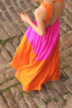 :: orange & pink ::
