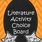 This ready-made literature choice board is ideal for use with any novel used in the 3rd-5th grade classroom. It includes 9 activities that students can complete, along with 4 worksheets that correspond with them. This packet is great for reinforcing reading comprehension, vocabulary building, and critical thinking by using novels in the classroom. It can also be used for small group centers.