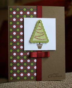 Pennant Christmas Tree by Kristin Moore - Cards and Paper Crafts at Splitcoaststampers