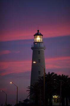 Faro Punta del Este at Sunset
