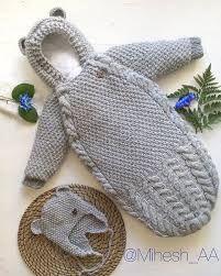 Связать конверт кокон для новорожденного спицами