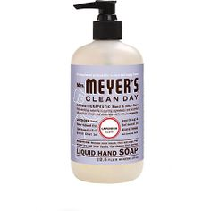We love Mrs. Meyer's hand soap! We use the lavender kind in our bathrooms at both spas :) #mrsmeyers #handsoap #cleanproducts
