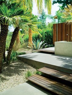 decking steps to a sun drenched haven